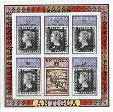 Antigua London 1980 Overprint 50c MNH Sheetlet
