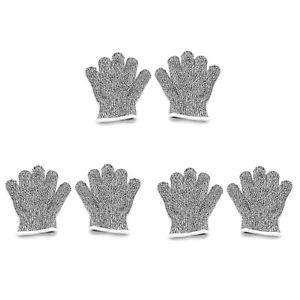 3Pair XXS 6-8yr Kinder Schnittfeste Stretch Handschuhe Safety Cuts Level 5 Shutz