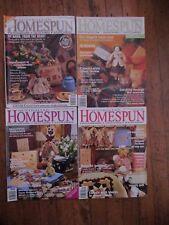 Secondhand Australian Homespun Magazines No 1, 10, 15, 17 x 4