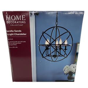 Home Decorators Round Chandelier Sarolta Sands Orb 5-Light, Black