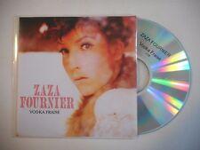 ZAZA FOURNIER : VODKA FRAISE ♦ CD SINGLE ACETATE PORT GRATUIT ♦