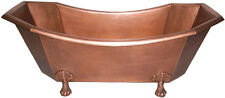 New Eight-Sided Solid Hammered Copper Clawfoot Soaking Tub Slipper Style Bathtub