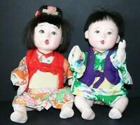 VINTAGE 1950's-60s JAPANESE ICHIMATSU DOLLS BOY AND GIRL MADE IN JAPAN