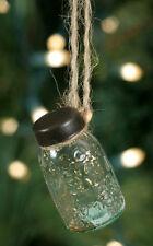 3 Mini Mason Jar Ornaments - Primitive Christmas Tree Ornament