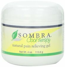 NEW SOMBRA COOL THERAPY 4oz JAR PAIN RELIEVING GEL FOR ARTHRITIS & STRAINS