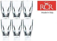 RCR Ninphea Crystal Hi Ball Cut Crystal Glass Tumblers Set of 6 Glasses 40cl