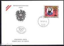 AUSTRIA 1 BUSTA PRIMO GIORNO FDC ORTOPEDIA A. LORENZ 1997