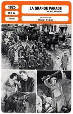 FICHE CINEMA : LA GRANDE PARADE - Gilbert,Adorée,Vidor 1925 The Big Parade