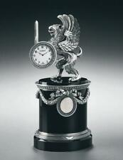 Imperial Faberge Silver And Onyx Gryphon Desk Clock, limited edition of 50