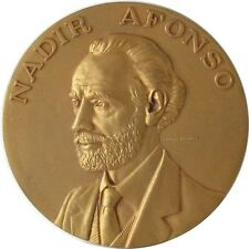 YELLOW BRONZE MEDAL NADIR AFONSO GREATEST ARCHITECT 60 mm BY CAB. ANTUNES / M37