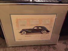 Rare 1936 Cord Sedan Limited Edition Lithograph Signed Gordon M. Buehrig