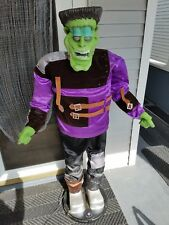 Life Size 5 Foot Halloween EUC Animated Frankenstein Dancing Gemmy NEEDS REPAIR