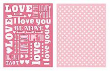 Lifestyle Crafts gaufrage dossier --- Sweet Heart (2 DOSSIERS)