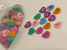 100+ Conversation Heart Shaped Erasers Rewards Counters Valentines Day Love