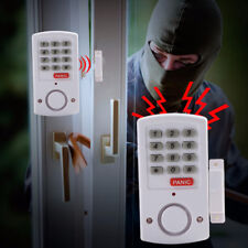 Door Window Alarm Security System Home Wireless Cordless Battery Burglar Keypad