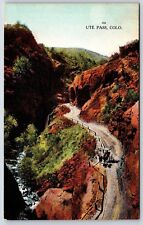 Ute Pass, Colorado Teller County Colorado Springs Early Divided Back Postcard