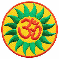 Aum Om Flower Determination Infinity Hindu Yoga Peace Trance Iron-On Patch AU021