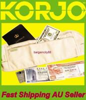 Korjo MB64Travel Passport Waist Pouch Security Bag Money Belt Ticket Card Wallet