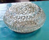 Ancien Abat-Jour Vintage Soucoupe Plafonnier Suspension Lustre verre opalin