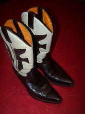 Frye Daisy Duke Cowboy Boots # 77780  Dark Chocolate/Cream 8.5M