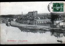 MONTEREAU (77) PENICHES à QUAI animé en 1908