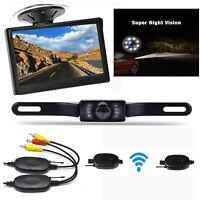 "Wireless4.3"" Monitor Car Rear View System Backup Reverse Camera Night Vision Kit"