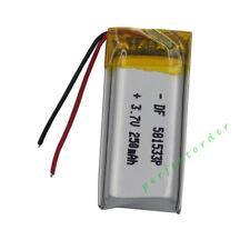 3.7V 250mAh Polymer Lipo Battery 581533 For DIY pen headset pen glasses Mp3 GPS