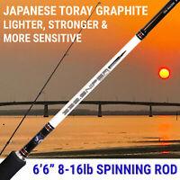 """SNIPER 6'6"""" Spinning Fishing Rod JAPANESE Toray Graphite FUJI Guides & Reel seat"""