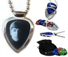 PICKBAY Guitar Pick holder Pendant w John Lennon pick Beatles (Engravable Back)