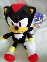 "SHADOW THE HEDGEHOG Official 12"" Sega Sonic Soft Plush Teddy Toy Brand New"