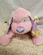 """Kids Preferred Little Lovey Pink Puppy Dog Baby Girl Plush Taggie Toy 11"""""""