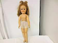 """Vintage Horsman 17"""" Nude Rubber Doll-Jointed-Open/Close Green Eyes"""