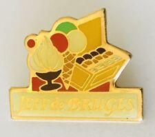 Jeff De Bruges Chocolates Ice Cream Advertising Pin Badge Vintage (C20)