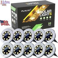 Solar Ground Lights, 8 LED Solar Disk Lights Outdoor Waterproof for Garden Yard