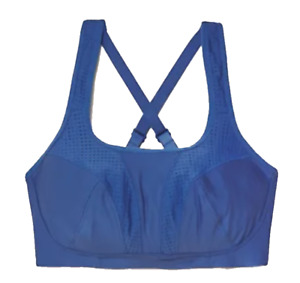 Brand New Ex M&S High Impact Non-Wired Sports Bra Sizes 32-42 A-H Blue