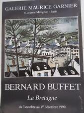 "galerie Maurice Garnier Bernard Buffet ""la Bretagne"" affiche"