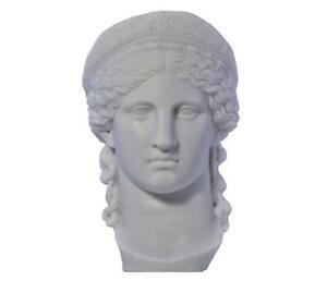 Hera Juno queen of gods goddess of women bust head Greek Roman Statue Sculpture