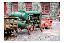 Old Engine on Steel Wheels Wales Photographic Epson Print only (Unframed)