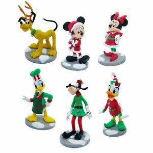 Disney Mickey and Friends Christmas Figurine Playset, Disney Original   N:1790
