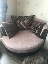 Excellent Condition Sofa Suite, Brown & Beige, LOOKS BRAND NEW!