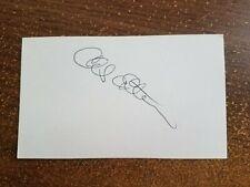 Chuck Estrada 3x5 Baseball Autograph  Alex Stern Collection