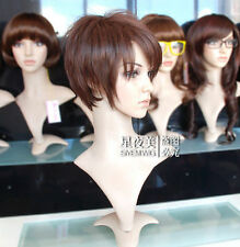 LMRA346  charming Short straight lady's brown hair  Wig  wigs for women