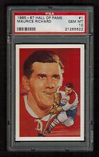 PSA 10  MAURICE RICHARD  1985 Hockey Hall of Fame Card #1