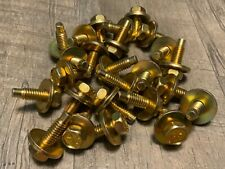 25 pcs Ford Mercury Lincoln fender body bolts yellow zinc 5/16-18 x 15/16""