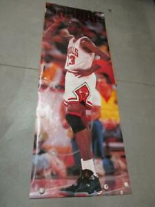 """1990 Michael Jordan """"In Action""""  Poster  TALL 73"""" x 26""""  New Old Stock!  RARE!"""
