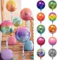 4D Farbverlauf Aluminiumfolie Ballon Geburtstag Hochzeit Dekoration Disco Ballon