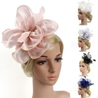 Classics Wedding Women Fascinator Fashion Ribbons And Feathers Party Mesh Hat
