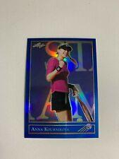 2019 Leaf National Convention - Anna Kournikova - Blue 1992 Metal Promo #d 12/20