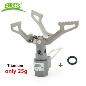 BRS-3000T Titanium Gas Burner Camping Stoves Ultralight w 1 Extra Backup O-Ring