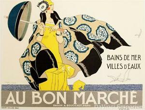 Au Bon Marche Poster Fine Art Lithograph Rene Vincent S2 Art